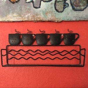 """Cute Metal Wire Coffee Shelf 13.5""""W x 6.5""""H"""